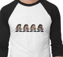 8-bit Ghostbusters Men's Baseball ¾ T-Shirt