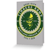 Rose City Till I Die Greeting Card