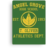 Angel Grove H.S. (Green Ranger Edition) Canvas Print