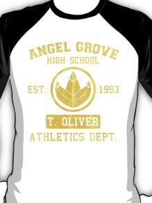 Angel Grove H.S. (Green Ranger Edition) T-Shirt