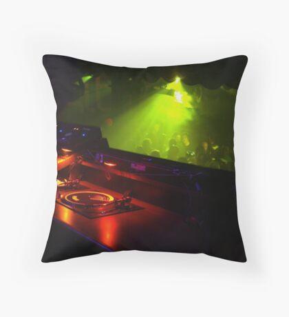 DJ ing Throw Pillow