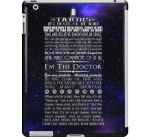 Doctor Who TARDIS Typography iPad Case/Skin