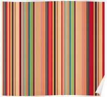 Vintage candy stripes multi colour  Poster