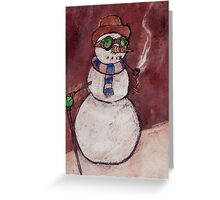Steampunk Snowman Greeting Card