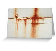 Rust Patina style 0001 Greeting Card