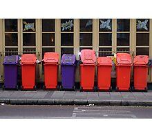 Bins on Parade Photographic Print
