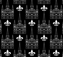 St. Louis Cathedral Pattern (White) by StudioBlack