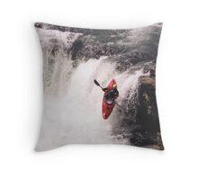 Kayak Leap 1 Throw Pillow