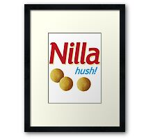 Nilla hush Framed Print