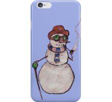 Smoking Steampunk Snowman iPhone Case/Skin