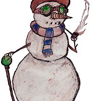 Smoking Steampunk Snowman by Glen A. Lewis