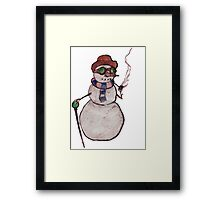 Smoking Steampunk Snowman Framed Print