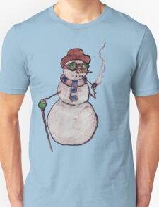 Smoking Steampunk Snowman T-Shirt