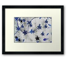 Vintage floral print Chinoiserie blossoms Framed Print
