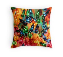 Christmas Colors Throw Pillow