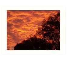 Silhoutte Sunset Art Print