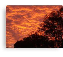 Silhoutte Sunset Canvas Print