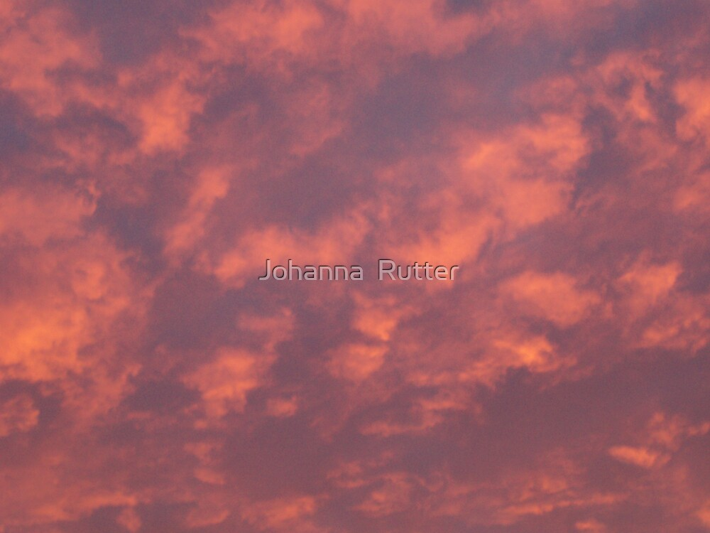 pink cloud sunset by Johanna  Rutter