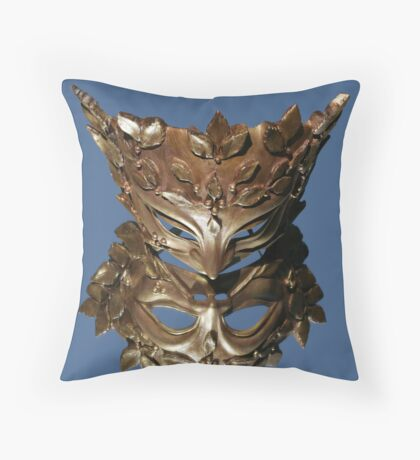 Mirror Mask Throw Pillow