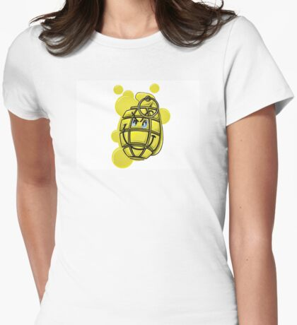 Grenade smiley Womens Fitted T-Shirt