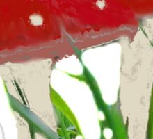 Cute Mini Red Mushrooms  Sticker