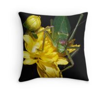 Yellow  & Green ! Throw Pillow