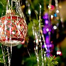 Red and Purple Ornaments by Barbara Gordon