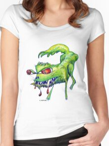Good Kitty? Bad Kitty! Women's Fitted Scoop T-Shirt
