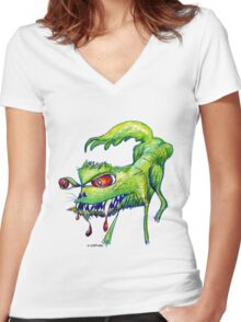 Good Kitty? Bad Kitty! Women's Fitted V-Neck T-Shirt