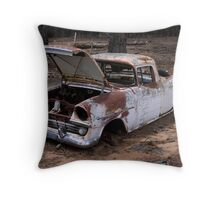 Rusty Old Girl Throw Pillow
