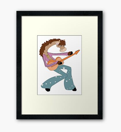 Jimmy Giraffe's Guitar Framed Print