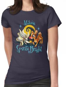 Making Spirits Bright Womens Fitted T-Shirt