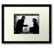 X Files Black Metal Framed Print