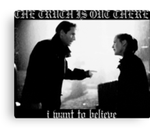 X Files Black Metal Canvas Print