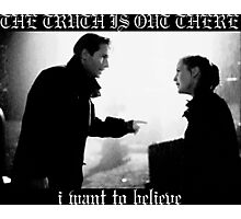 X Files Black Metal Photographic Print