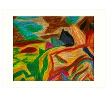 Colors Oil Pastel Art Print