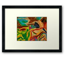 Colors Oil Pastel Framed Print