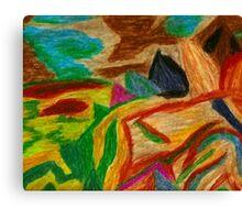 Colors Oil Pastel Canvas Print
