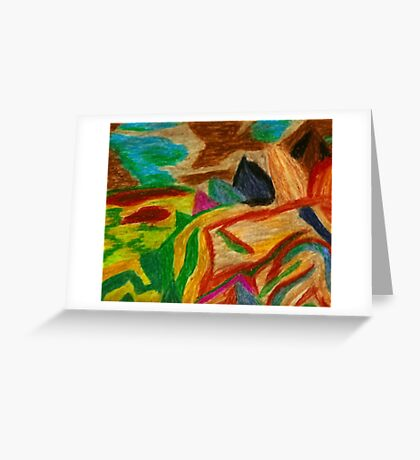 Colors Oil Pastel Greeting Card
