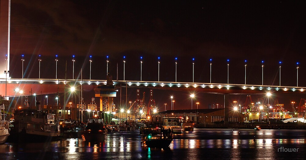 Bolte Bridge over the Dockyards by rflower