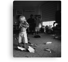 Contemplating the carnage.. Canvas Print