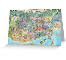 Fantasy Map of Toronto, Might and Magic Style Greeting Card