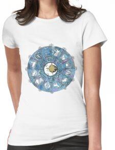 Watercolor Zentangle Zodiac Chart Womens Fitted T-Shirt