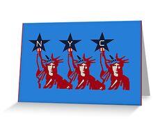 Liberty x3  Greeting Card