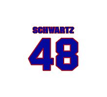 National football player Don Schwartz jersey 48 Photographic Print