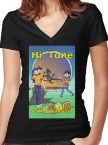 Hi' Tone Book Cover Women's Fitted V-Neck T-Shirt