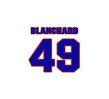 National football player Dick Blanchard jersey 49 Photographic Print