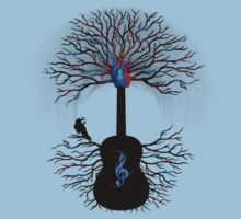 Rhythms of the Heart - ( surreal guitar tree art ) Baby Tee
