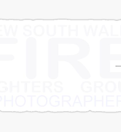 Nsw Firefighters Group Photographer Sticker