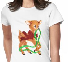Holiday Deer Tee Womens Fitted T-Shirt